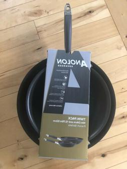"""Anolon Advanced Twin Pack 10"""" & 12 Inch French Skillets Fr"""