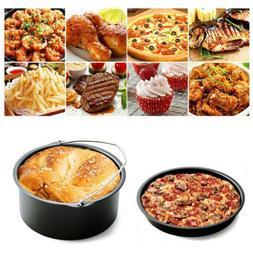 Air Frying Pan Accessories 5pcs Fryer Baking Basket Pizza Pl