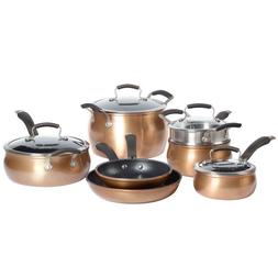 Epicurious 11-Piece Aluminum Cookware Set - Copper