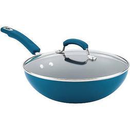 "Rachael Ray® 11"" Aluminum Nonstick Marine Blue Stir Fry"