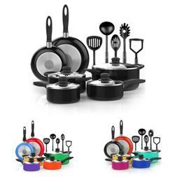 B 15 Piece Nonstick Cookware Set Kitchen Pots & Pans PTFE &