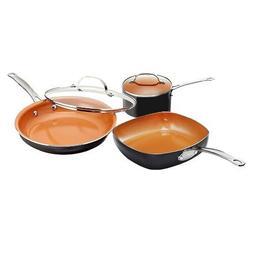 Gotham Steel 1808 Nonstick 5 Piece Essential Cookware Set wi