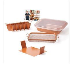 Copper Chef Bake Crisp Pan Non-Stick Air Pan Frying Brownies
