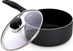 Utopia Kitchen 2 Quart Nonstick Saucepan with Glass Lid - Mu