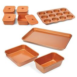 Bakeware Set Baking Cooking Utensils Copper Chef 12PCS Cake