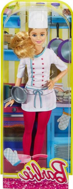 Barbie CAREER I CAN BE CHEF BARBIE Doll DHB22 Restaurant Coo