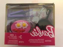 Barbie Doll Kitchen Accessories:  Frying Pan, Spatula, Waffl