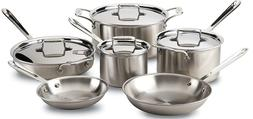 All-Clad BD005710-R D5 Brushed Stainless Steel 5-Ply Bonded