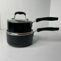 Guy Fieri Black Nonstick Sauce Pots With Lids Set Of 2
