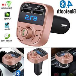 Glumes Bluetooth FM Transmitter, Wireless In-Car FM Radio Ad