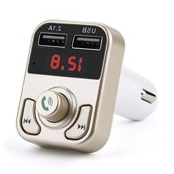Glumes Bluetooth FM Transmitter for Car, Wireless Radio Tran