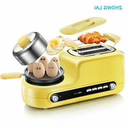 Breakfast Maker Multi-Functional Toaster Frying Pan Egg Stea