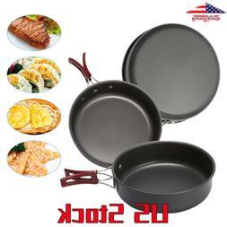 Camping Pan Cookware Aluminum Non-stick Pan Cooking Frying P