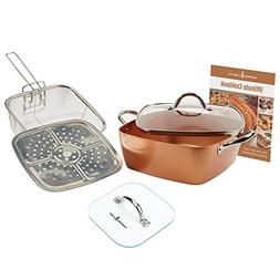 "Copper Chef Casserole Pan Set: 4-Piece XL 11"" Casserole Po"