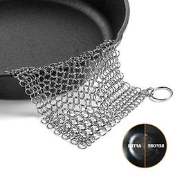 Cast Iron Cleaner, OMOCOOK XL 8x6 Inch Premium Stainless Ste