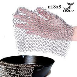 Cast Iron Cleaner Chainmail Scrubber 316 Stainless Steel Cle