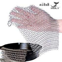 8x6 Cast Iron Cleaner Chainmail Scrubber 316 Stainless Steel