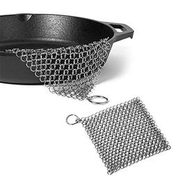 "Cast Iron Cleaner - 7""x7"" More Efficient Stainless Steel 316"