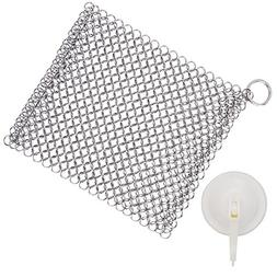 Cast Iron Cleaner 316L Stainless Steel Chainmail Scrubber fo