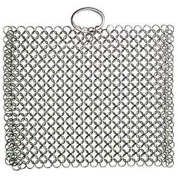 Laxhand Cast Iron Cleaner Chainmail Scrubber 316 Stainless S