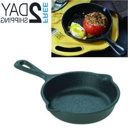 Cast Iron Fire Cooking Skillet Seasoned Frying Pan Camping C