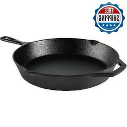 Cast Iron Frying Pan Skillet Pre-Seasoned Vintage Kitchen Fr