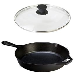 Cast Iron Frying Pan With Lid 10.25 Inch LODGE Cookware Set