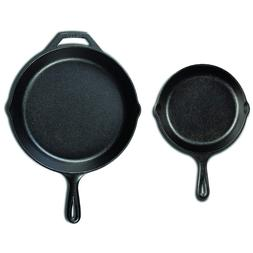 LODGE Cast Iron Pan Set Seasoned Skillet Cookware Oven Cooki