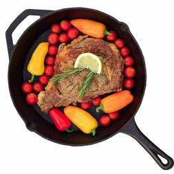 CAST IRON SKILLET 11 Inch Pre Seasoned Frying Cookware Stove