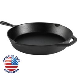 Cast Iron Skillet 12 Large Oven Frying Pan Pot Non Stick Coo