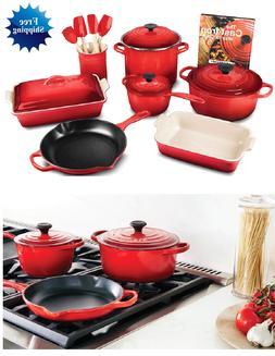 Cast Iron Skillet Le Creuset Dutch Oven Kitchen Cookware Set