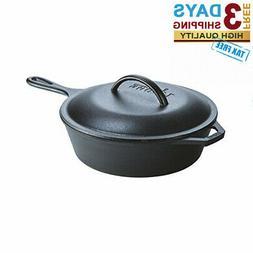 Cast Iron Skillet Frying Pan Lid LODGE Cook Chicken Fryer De
