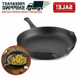 Cast Iron Skillet Oven Fry Pan Pot Cookware Pre-seasoned Coo