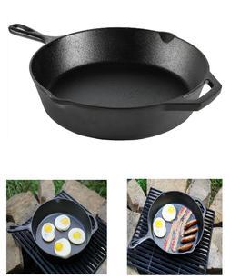 Cast Iron Skillet Pre-Seasoned Vintage Kitchen Cooking Broil