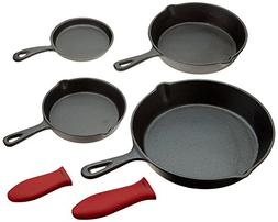 Cast Iron Skillets, Set Of 4  10 Inch - 5.1 Inch, Including