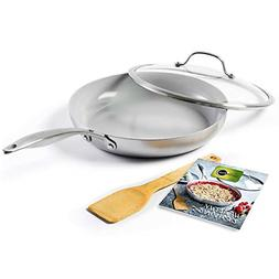 GreenPan CC001874-001 Venice Pro 11in Skillet, 11'', Grey
