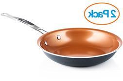 """Chef's Star Ceramic Non-Stick Titanium Frying Pan 9.5"""" Coppe"""