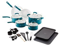 Guy Fieri 25 Piece Ceramic Nonstick Aluminum Cookware Set, L