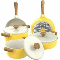 Vremi 8 Piece Ceramic Nonstick Cookware Set - Induction Stov