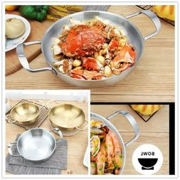 Chef Stainless Steel Covered Frying Pan Cooker Home Kitchen