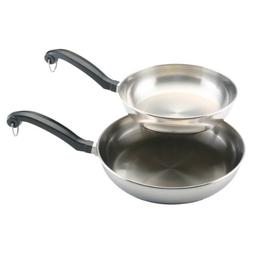 Farberware Classic Stainless Steel Skillet Set, 8 and 10 inc