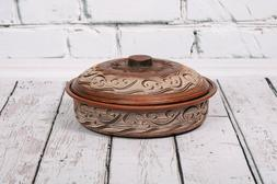 Handmade Clay Cooking Pot Frying Pan Organic Ceramics Baking