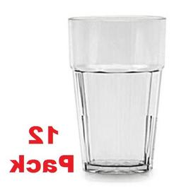 24 oz. Clear Plastic Tumbler / Stackable Restaurant Beverag
