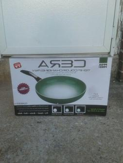 """Color Changing Frying Pan AS SEEN ON TV 9.5"""" Nonstick Cerami"""