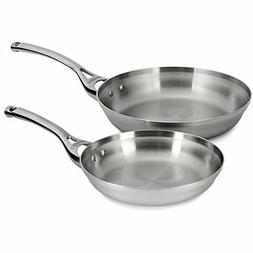 "Calphalon Contemporary Stainless Steel 8"" & 10"" Fry Pan Set"