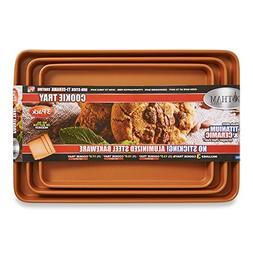 Gotham Steel Cookie Trays - 3 pack As Seen on TV
