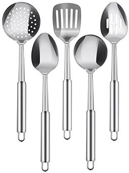 Stainless Steel 5 Pieces Cooking Spoon Set - By Utopia Kitch
