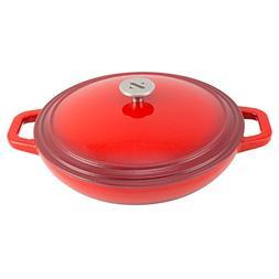 Zelancio Cookware 3 Quart Enameled Cast iron Casserole Dish