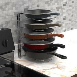 Cookware Fry Pan Organizer Rack Pot Adjustable Storage Holde