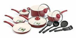 Cookware Green Life 14 Piece Nonstick Ceramic Cookware Set w